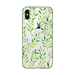 billige Etuier til iPhone 7 Plus-Etui Til Apple iPhone X iPhone 8 Transparent Mønster Bagcover Træ Blødt TPU for iPhone X iPhone 8 Plus iPhone 8 iPhone 7 Plus iPhone 7