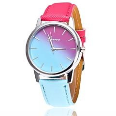preiswerte Tolle Angebote auf Uhren-Damen Armbanduhr Quartz Armbanduhren für den Alltag PU Band Analog Freizeit Modisch Kleideruhr Blau / Rot / Rosa - Rot Rosa Hellblau Ein Jahr Batterielebensdauer