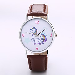 preiswerte Tolle Angebote auf Uhren-Herrn Damen Quartz Armbanduhr Chinesisch N / A PU Band Freizeit Minimalistisch Elegant Modisch Schwarz Orange Grün Lila Gelb Khaki