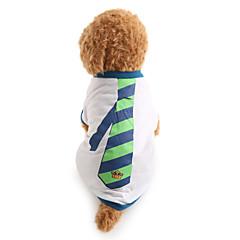 tanie Ubranka i akcesoria dla psów-Pies T-shirt Ubrania dla psów Naszywka White Bawełna Kostium Dla zwierząt domowych Męskie Motyw świąteczny Modny