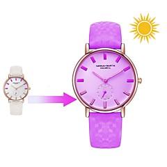 preiswerte Damenuhren-Damen Armbanduhr Japanisch Armbanduhren für den Alltag Echtes Leder Band Freizeit / Modisch Weiß / Blau / Rot