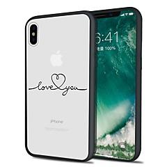 Недорогие Кейсы для iPhone 5-Кейс для Назначение Apple iPhone X iPhone 8 Plus С узором Кейс на заднюю панель Слова / выражения Мягкий ТПУ для iPhone X iPhone 8 Pluss