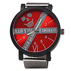 Homens Relógio de Pulso Chinês Quartzo Mostrador Grande Lega Banda Legal Preta