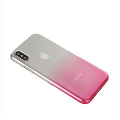 Недорогие Кейсы для iPhone 6-Кейс для Назначение Apple iPhone X iPhone 8 Ультратонкий Полупрозрачный Кейс на заднюю панель Градиент цвета Мягкий ТПУ для iPhone X