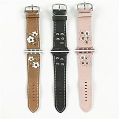 Χαμηλού Κόστους Μπρασελέ για Apple Watch-Παρακολουθήστε Band για Apple Watch Series 3 / 2 / 1 Apple Λουράκι Καρπού Μοντέρνο Κούμπωμα Δέρμα