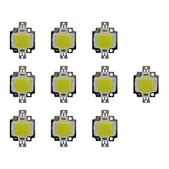 billige LED-10pcs 800lm Bulb tilbehør LED Chip Messing 10W