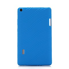 cheap Tablet Cases-Case For HUAWEI Huawei MediaPad T3 7.0 with Stand Back Cover Solid Colored / Striped Soft Silicone for Huawei MediaPad T3 7.0