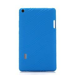 preiswerte Tablet-Hüllen-Hülle Für HUAWEI MediaPad T3 7.0 mit Halterung Rückseite Solide / Gestreift Weich Silikon für Huawei MediaPad T3 7.0