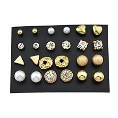 preiswerte Ohrringe-Damen Ohrstecker / Ohr-Stulpen - Grundlegend, Rockig Gold Für Alltag / Verabredung