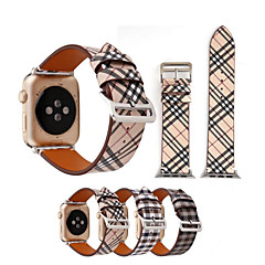 billige Apple Watch-bånd-Urrem for Apple Watch Series 3 / 2 / 1 Apple Håndledsrem Klassisk spænde Ægte læder