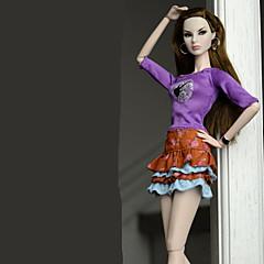 abordables Ropa para Barbies-Pantalones y Faldas Falda Tops Falda Top por Muñeca Barbie  Regency Top Falda por Chica de muñeca de juguete