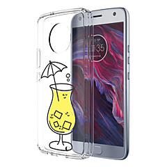 Недорогие Чехлы и кейсы для Motorola-Кейс для Назначение Motorola E4 Plus С узором Кейс на заднюю панель Продукты питания Мягкий ТПУ для Moto X4 Moto E4 Plus Moto E4