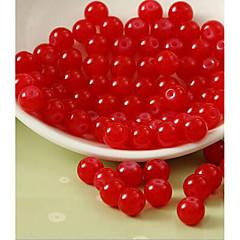 olcso Gyöngyök-DIY ékszerek 80 Perlice Fukszia Kávé Rózsaszín Piros Zöld Kör Üveg üveggyöngy 1 cm DIY Karkötők Nyakláncok