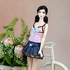 abordables Ropa para Barbies-Bonito Vestir por Muñeca Barbie  Poliéster Vestido por Chica de muñeca de juguete