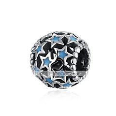 お買い得  ビーズ&ジュエリー製作-DIYジュエリー 1 個 ビーズ シルバー ブルー ボール型 星形 ビーズ 1 cm DIY ネックレス ブレスレット
