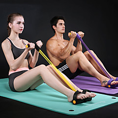 abordables Bandas de Resistencia-Banda de resistencia / tubo de ejercicio Con Caucho Ajustable, Barra de Fuerza Terapia física, Entrenamiento de resistencia por Yoga / Ejercicio y Fitness / Gimnasia
