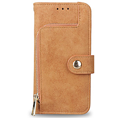 Недорогие Кейсы для iPhone 7-Кейс для Назначение Apple iPhone X iPhone 8 Бумажник для карт Кошелек со стендом Флип Матовое Чехол Сплошной цвет Твердый Кожа PU для
