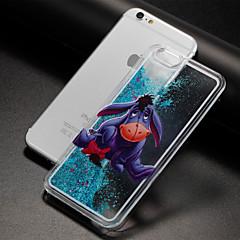 Недорогие Кейсы для iPhone X-Назначение iPhone X iPhone 8 Чехлы панели Движущаяся жидкость Прозрачный С узором Задняя крышка Кейс для Мультипликация Твердый пластик