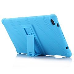 お買い得  タブレット用ケース-ウェーブパターンパターンシリコーンゴムゲルスキンケースカバーとlenovoタブ用ホルダー付き4 8(tb-8504)8.0インチタブレットPC