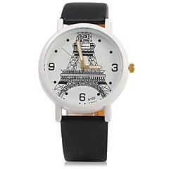 preiswerte Herrenuhren-JUBAOLI Herrn Damen Armbanduhr Quartz Armbanduhren für den Alltag Cool Legierung Band Analog Glanz Schwarz / Weiß / Rot - Schwarz Braun Rot