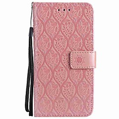 Недорогие Кейсы для iPhone 5-Кейс для Назначение Apple iPhone X iPhone 8 Plus Бумажник для карт Кошелек Защита от удара Кольца-держатели Флип Чехол Сплошной цвет