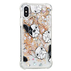 abordables Fundas para iPhone 5c-Funda Para Apple iPhone X iPhone 8 Antigolpes Líquido Diseños Funda Trasera Perro Suave TPU para iPhone X iPhone 8 Plus iPhone 8 iPhone 7