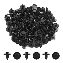 cheap Auto Parts-100pcs 8mm Dia Black Plastic Splash Carpet Push-Type Interior Mat Clips for Cars