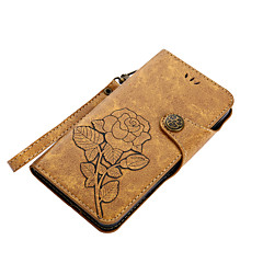 Недорогие Чехлы и кейсы для Nokia-Кейс для Назначение Nokia Nokia 6 Nokia 5 Бумажник для карт Кошелек со стендом Флип Магнитный С узором Чехол Цветы Твердый Кожа PU для