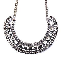 お買い得  ネックレス-女性用 幾何学形 欧風 ファッション ステートメントネックレス , 樹脂 合金 ステートメントネックレス 、 パーティー