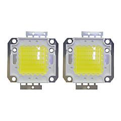 Χαμηλού Κόστους LED-50w cob 3800lm 3000-3200k / 6000-6200k ζεστό άσπρο / λευκό led chip dc30-36v 2pcs