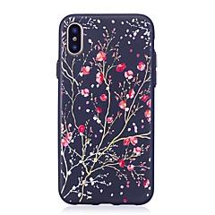 Недорогие Кейсы для iPhone 7-Кейс для Назначение Apple iPhone X iPhone 8 Рельефный С узором Цветы Мягкий для Apple