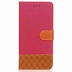 Недорогие Чехлы и кейсы для Galaxy Note 5-Кейс для Назначение SSamsung Galaxy Note 8 / Note 5 Кошелек / Бумажник для карт / со стендом Чехол Геометрический рисунок Твердый текстильный для Note 8 / Note 5 / Note 4
