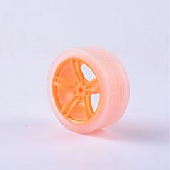 abordables Motores y Partes-cangrejo Kingdom® diy piezas del coche educativo coche rueda tt neumático del motor 1 unids naranja y transparente # 4