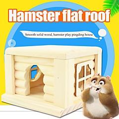 お買い得  小動物用アクセサリー-ウッド パータブル ベッド ランダムカラー