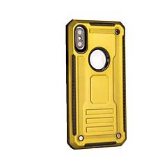 Недорогие Кейсы для iPhone X-Кейс для Назначение Apple iPhone X iPhone 8 Plus Защита от удара Кейс на заднюю панель броня Твердый пластик для iPhone X iPhone 8 Pluss