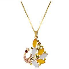 preiswerte Halsketten-Damen Opal / Kristall Anhängerketten - vergoldet Tier Regenbogen Modische Halsketten Für Geschenk, Alltag