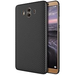 Недорогие Чехлы и кейсы для Huawei Mate-Кейс для Назначение Huawei Mate 10 С узором Кейс на заднюю панель Полосы / волосы Твердый Углеродное волокно для Mate 10 Huawei