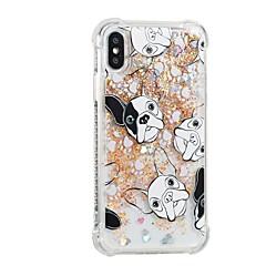 Недорогие Кейсы для iPhone 7-Кейс для Назначение Apple iPhone X iPhone 8 Plus Движущаяся жидкость С узором Кейс на заднюю панель С собакой Мягкий ТПУ для iPhone 8