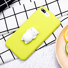 cheap iPhone Cases-Case For Apple iPhone 7 Plus iPhone 7 Squishy DIY Back Cover Cat 3D Cartoon Soft Silicone for iPhone 8 Plus iPhone 8 iPhone 7 Plus iPhone