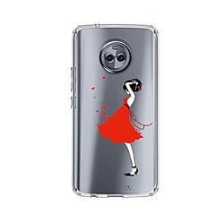 Недорогие Чехлы и кейсы для Motorola-Кейс для Назначение Motorola E4 Plus С узором Кейс на заднюю панель Соблазнительная девушка Мягкий ТПУ для Moto X4 Moto E4 Plus Moto E4