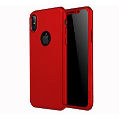 Недорогие Кейсы для iPhone 6 Plus-Кейс для Назначение Apple iPhone X iPhone 8 Матовое Задняя крышка Сплошной цвет Твердый PC для iPhone X iPhone 8 Pluss iPhone 8 iPhone 7