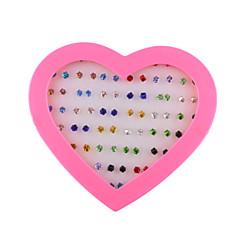 お買い得  イヤリング-女性用 スタッドピアス ファッション イミテーションダイヤモンド 幾何学形 ジュエリー 日常