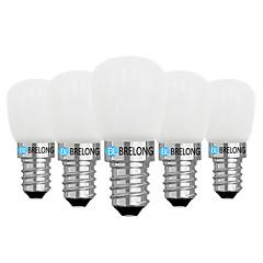 preiswerte LED-Birnen-BRELONG® 5 Stück 2W 120lm E14 E12 LED Kugelbirnen 1 LED-Perlen COB Abblendbar Warmes Weiß Weiß 220V