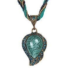 preiswerte Halsketten-Damen Opal Anhängerketten - Opal Tropfen Ethnisch Rot, Hellblau Modische Halsketten Schmuck 1 Für Alltag