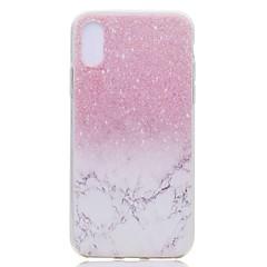 Недорогие Кейсы для iPhone 7-Кейс для Назначение Apple iPhone X iPhone 8 Plus Прозрачный С узором Задняя крышка Мрамор Мягкий TPU для iPhone X iPhone 8 Pluss iPhone 8