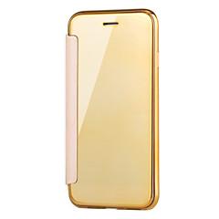 Недорогие Кейсы для iPhone 5-Кейс для Назначение Apple iPhone X iPhone 8 с окошком Покрытие Зеркальная поверхность Флип Прозрачный Чехол Сплошной цвет Прозрачный