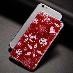 Недорогие Кейсы для iPhone 5-Кейс для Назначение Apple iPhone X / iPhone 8 Plus / iPhone 7 IMD Кейс на заднюю панель Рождество Мягкий ТПУ для iPhone X / iPhone 8 Pluss / iPhone 8