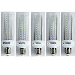 cheap LED & Lighting-5pcs 19W 1600 lm E27 LED Corn Lights T30 96 leds SMD 3528 Cold White AC 110-240V