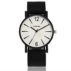preiswerte Herrenuhren-Herrn Armbanduhren für den Alltag / Armbanduhr Chinesisch Armbanduhren für den Alltag Nylon Band Freizeit / Minimalistisch Schwarz / Rot / Lila