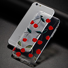 Недорогие Кейсы для iPhone 7-Кейс для Назначение Apple iPhone X / iPhone 8 / iPhone 7 Ультратонкий / С узором Кейс на заднюю панель Фрукты Мягкий ТПУ для iPhone X / iPhone 8 Pluss / iPhone 8